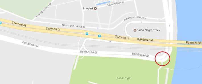 11. kerület, budai oldalon a Rákóczi híd alatt