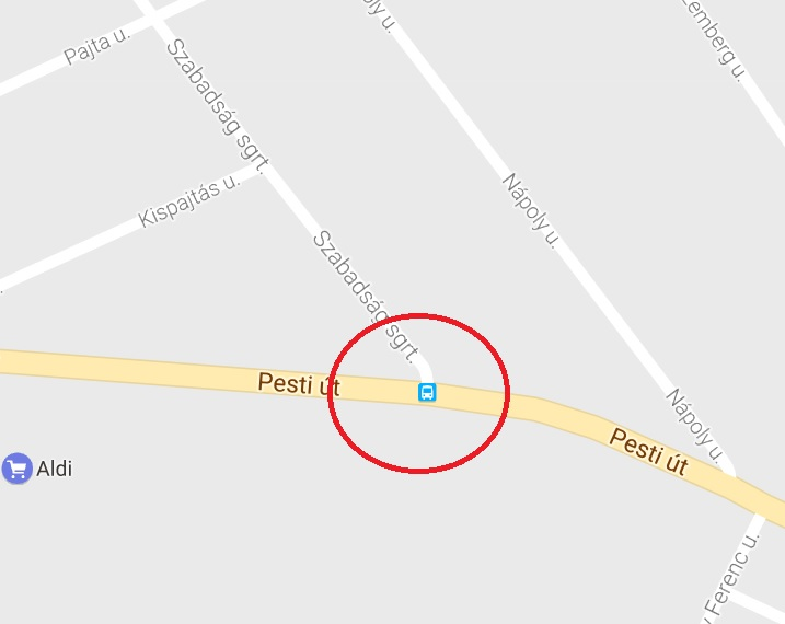 17. kerület, Pesti út – Szabadság sugárút