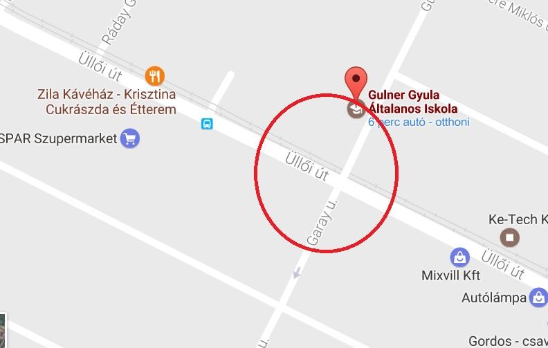 18. kerület, Üllői út – Gulner Gyula utca kereszteződés