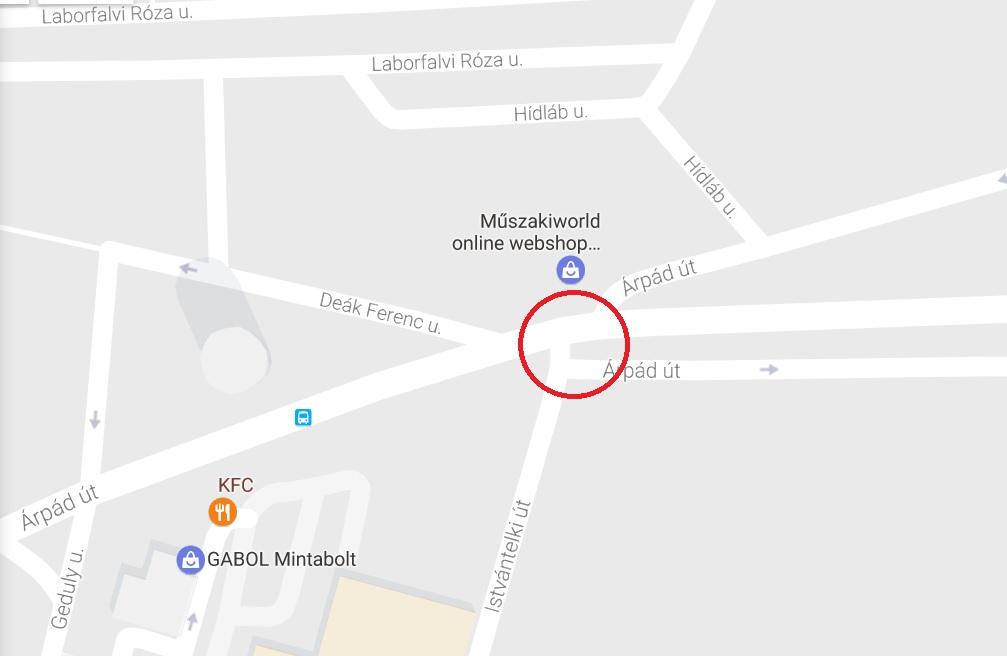 4. kerület, Istvántelki út – Árpád úti felüljáró kereszteződésnél VIGYÁZZ!
