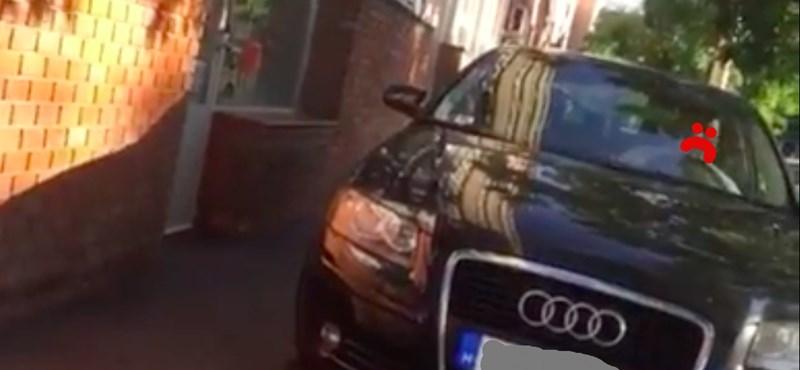 Íme a Fehérvári úti audis, aki a járdán parkol és közlekedik – videó
