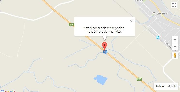 Személygépkocsik ütköztek az M1-es autópályán Börcs térségében