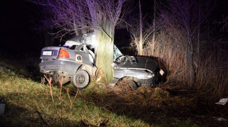 FOTÓK: Fának csapódott és szinte kettészakadt egy autó Csótnál