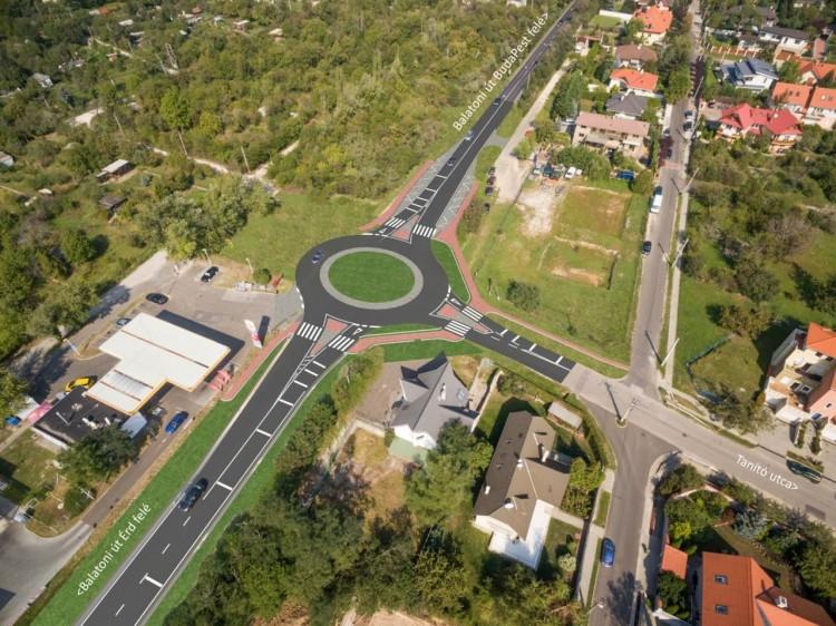 Két új körforgalmat kap a 7-es út budafoki szakasza
