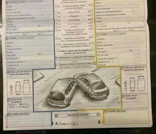 Fotó – Ilyen, mikor a grafikus sofőr tölti a betétlapot