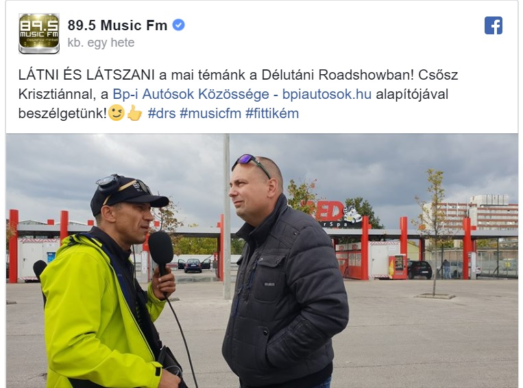 89.5 MUSIC FM Délutáni Roadshow – FITTIKÉMMEL ÉLŐBEN 2018.10.03.