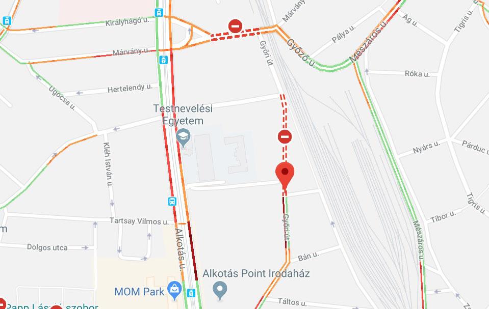Lezárták a Márvány utca és Győri utca környékét. Bombát találtak a Délinél