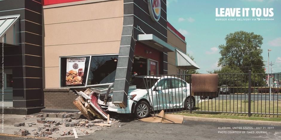 Fotó – Érdekes módon promózza a házhozszállítást a Burger King