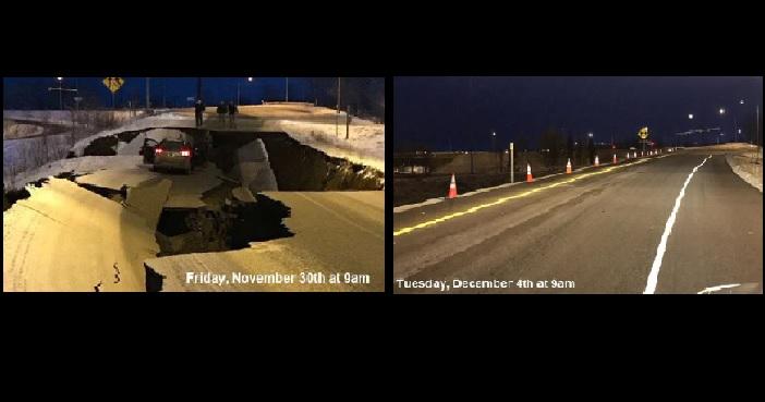 Videó – Hihetetlen, hogy néz ki az alaszkai út napokkal a durva földrengés után
