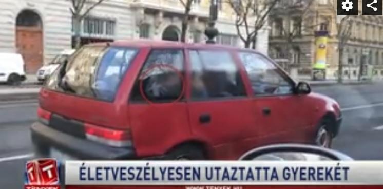 Videó – Biztonsági öv nélkül, az ölében utaztatta egy nő egy gyereket Budapesten