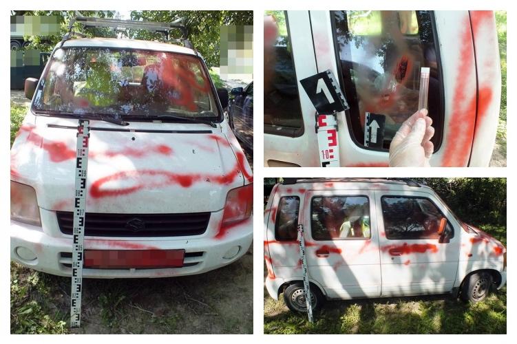Fotók – Haragudott volt házastársára, az autó szinte minden elemét lefújta piros festékkel