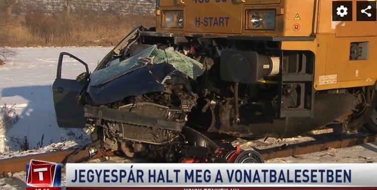 Videó – Jegyespár halt meg a tegnapi vonatbalesetben