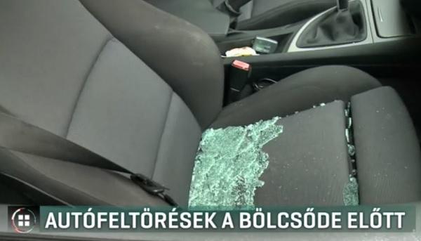 Videó – Egy bölcsőde előtt törtek fel autókat Budapesten