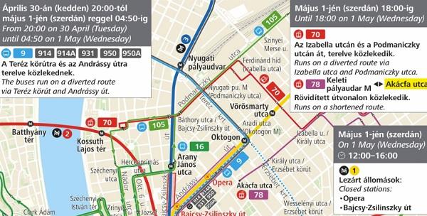 Közlekedési változások a belvárosban a Nagy Futam miatt április 30-án és május 1-jén