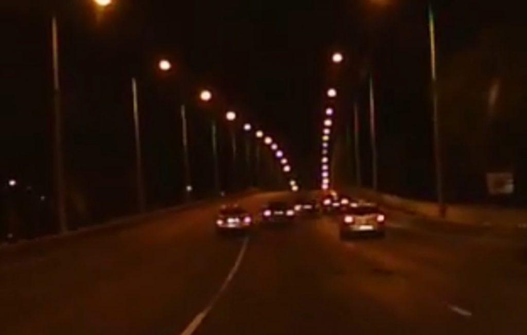 VIDEÓ: Verseny az Árpád úti felüljárón