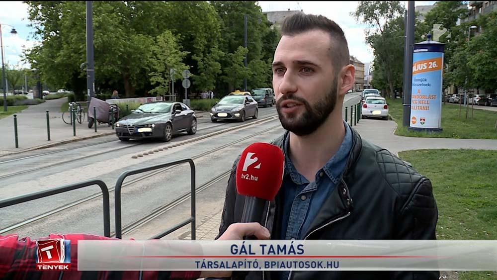 VIDEÓ: Kiemelten balesetveszélyes helyről nyilatkoztunk Budán, a TV2-nek