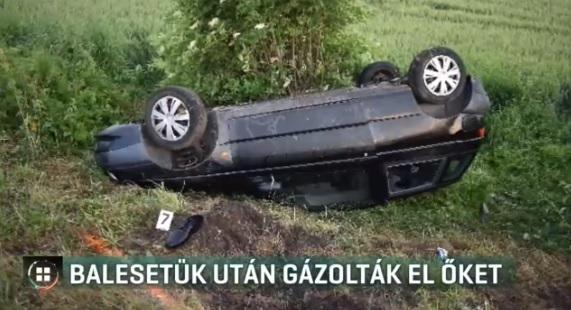 Videó – Tragédia: árokba hajtottak, túlélték, de utána elgázolták az utasokat