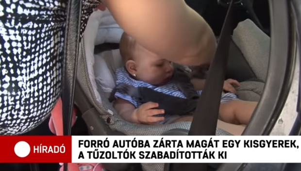 Videó – Forró autóba zárta magát egy kisgyerek Debrecenben