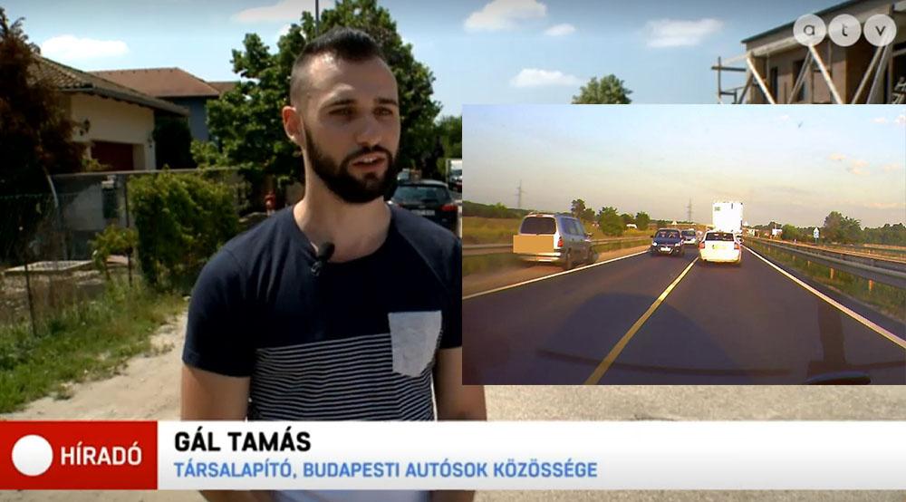 VIDEÓ: Tegnap közzétett felvételünk, az ATV Híradóban