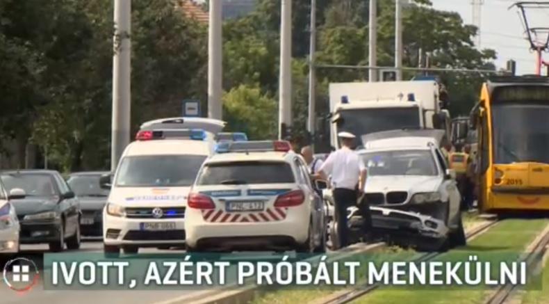 Videó – Villamossínekre hajtott a 11. kerületben, majd menekülni próbált a rendőrök elől