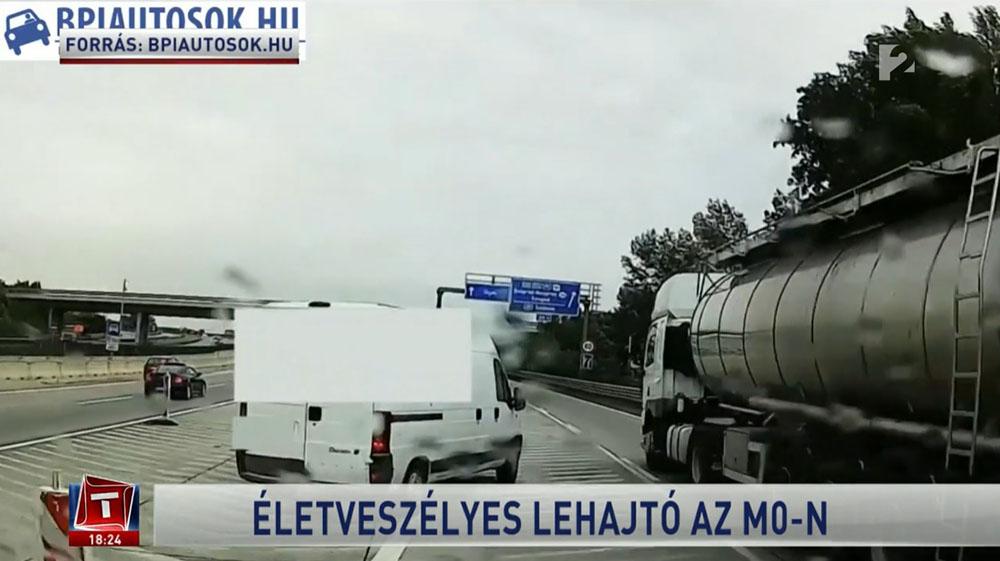 VIDEÓ: Minden, ami miatt veszélyes ez a lehajtó az M0-áson