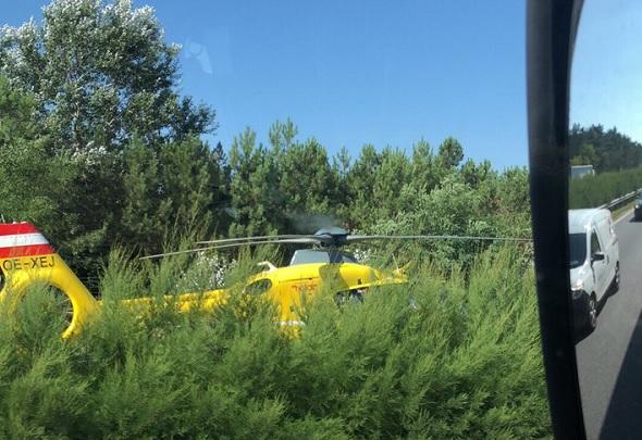 Kamionba csapódott egy autó az M5-ön, egy mentőhelikopter is érkezett a helyszínre