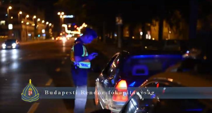 Videó – Ismét lecsapott a rendőrség a pesti illegális versenyzőkre