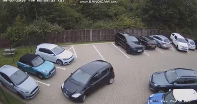 Videó – Csak le akart parkolni, amit művelt, attól egyből a net kedvence lett