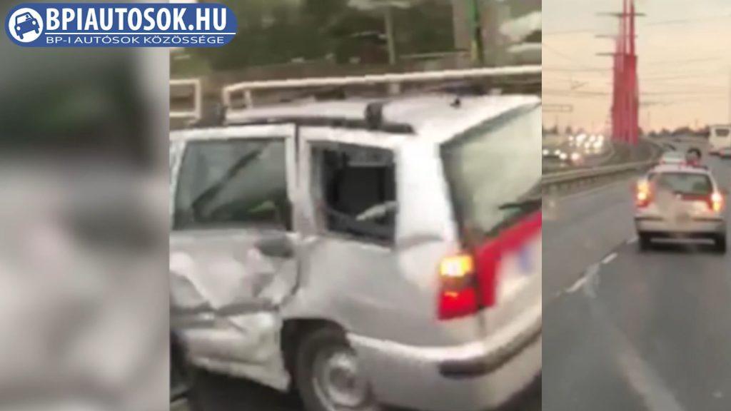 VIDEÓ: Olyan ronccsal ment haza a Rákóczi hídon, amivel két métert sem mennél