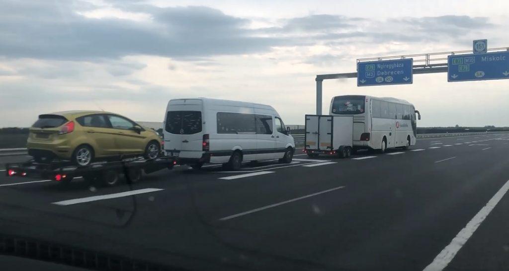 VIDEÓ az M3-ason: Már a buszosok is kezdik?