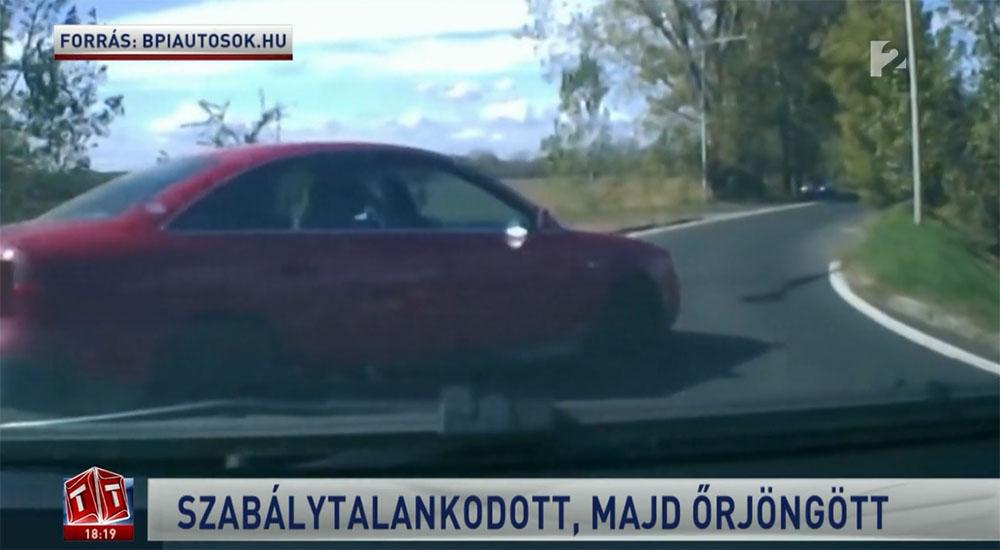 Csicska – ezt ordította egy autós, miután behajtott egy másik autós elé egy körforgalomba