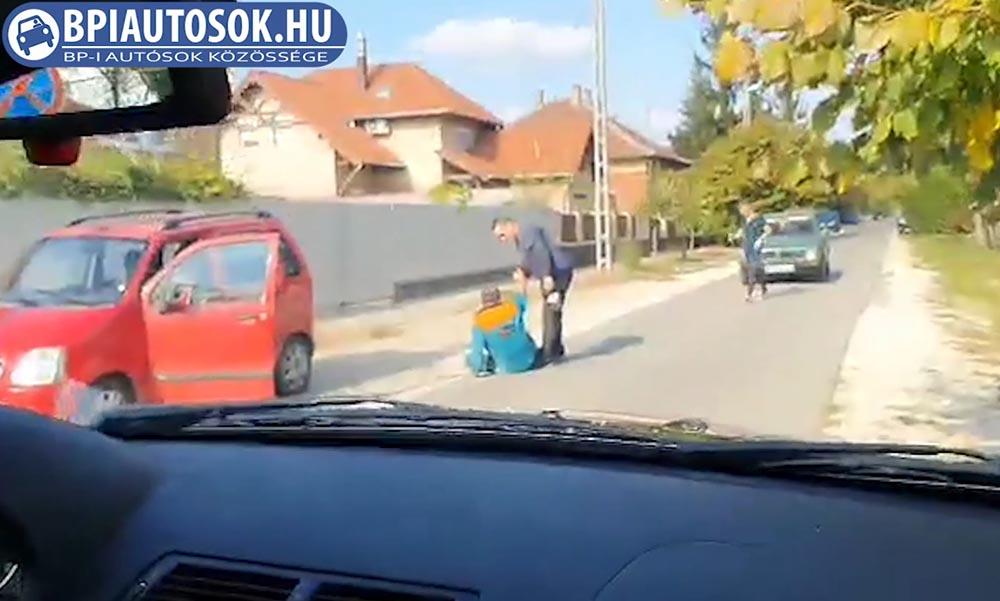 VIDEÓ: Totálrészegen akart autót vezetni a 18. kerületben. Megakadályozták!