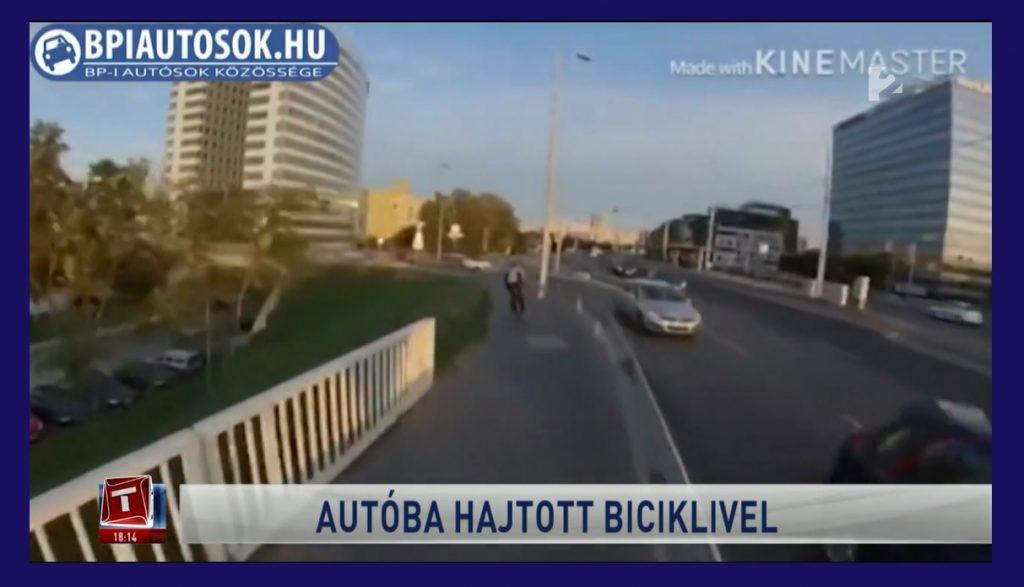 VIDEÓ: Megszólalt olvasónk, a biciklis balesetet rögzítő rolleres