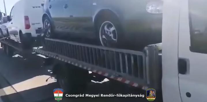 Videó – Pihenőben kapcsolták le  – Több, mint 2 tonna túlsúllyal közlekedett a bolgár tréleres
