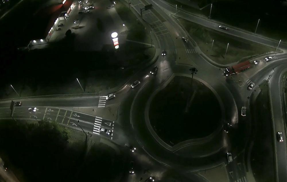 Látványos videón az érdi turbó körforgalom felülnézetből