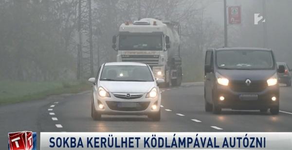 30 ezer forintra büntethetnek az indokolatlan ködlámpa használatért