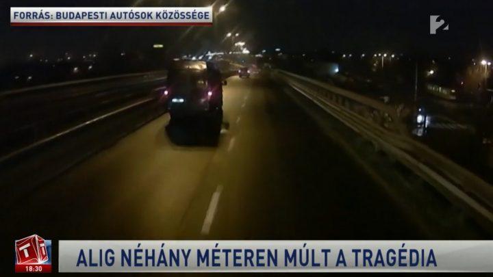 TV2: Forgalommal szemben egy budapesti felüljárón