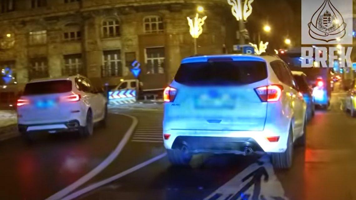 VIDEÓ: Sorra fogják meg civilautóból a pofátlanokat a rendőreink
