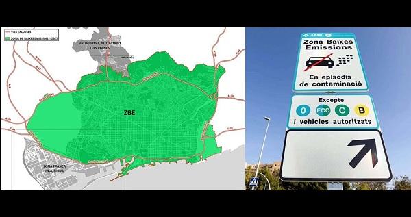 Barcelonában Európa legnagyobb kiterjedésű tilalmi zónáját jelölték ki a szennyező autók számára