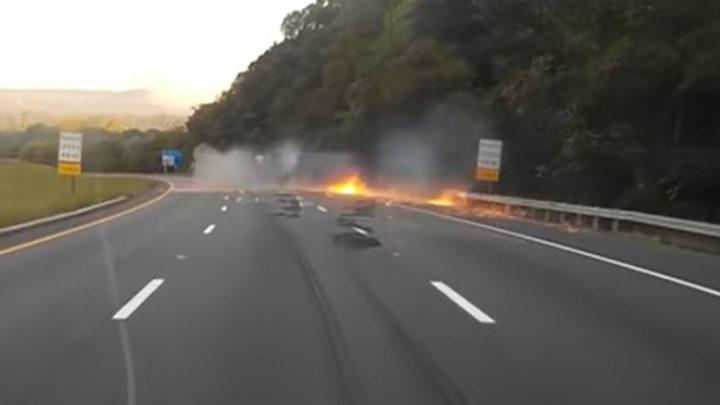 VIDEÓ: Rossz napja volt a kamionosnak