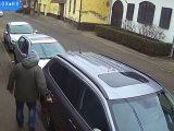 Videón a szándékos károkozás. Főként a lakók fóbiája, hogy nem állhat meg akárki a házuk előtt