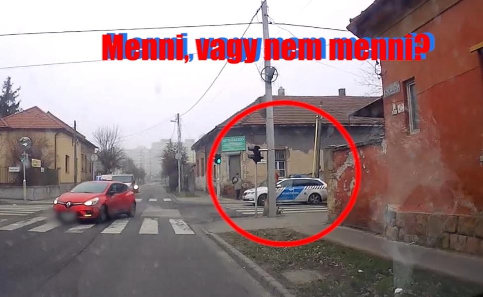VIDEÓ: Ilyen esetben a gyalogátkelőn bentragadj, vagy átmenj a piroson? Lássuk!