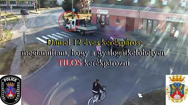 VIDEÓ: Dániel 12 éves és sajnos a saját kárán tanulta meg, hogy zebrán TILOS kerékpározni – Hívja fel a figyelmet a Magyar Rendőrség