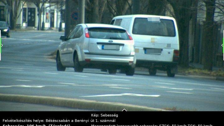 FOTÓK: 50-es táblánál 106Km/h – Autósunk nagyon sietett és nem ő volt az egyetlen