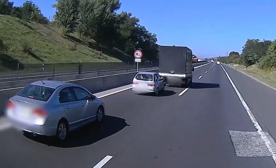 VIDEÓ: Harc az M3-as autópályán