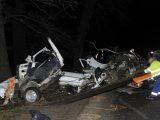 FOTÓK: Kettészakadt egy fának csapódó autó Monorierdőn – A sofőr életét vesztette