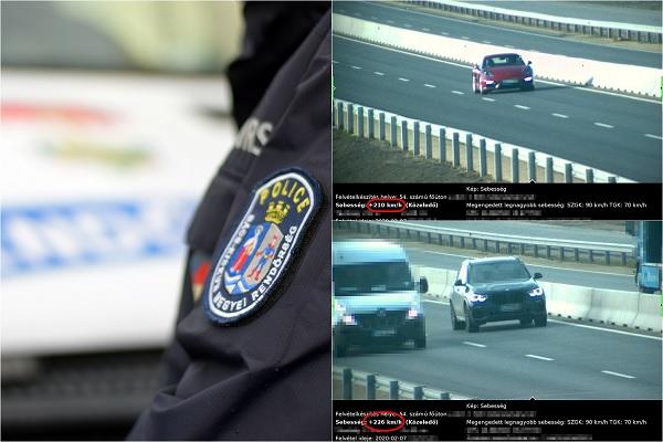 FOTÓK: 90-es tábla alatt 210-zel és 226-tal száguldott el a két autós – Szép kis bírsággal jutalmazta őket a rendőrség
