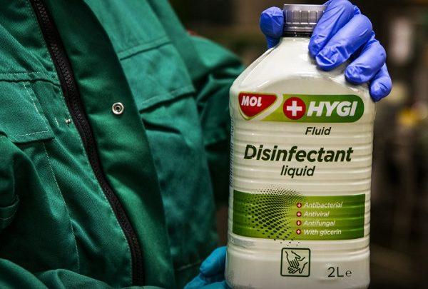 Koronavírus: már a Mol is fertőtlenítőszereket gyárt
