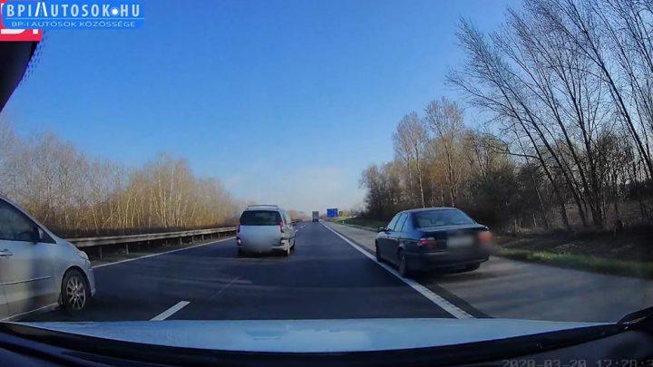 VIDEÓ: Sajnos pont az autópályán sz@rjátok le a követési távolságot