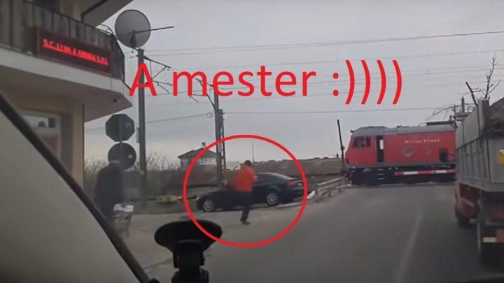 Sírunk: Megállította a vonatot, hogy kiugorjon egy kávéra – VIDEÓ